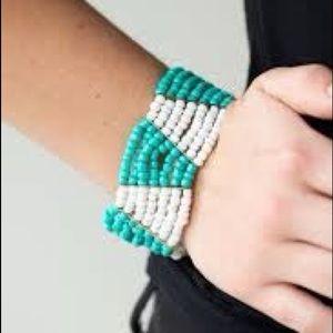 Tribal seed Bead stretchy bracelet